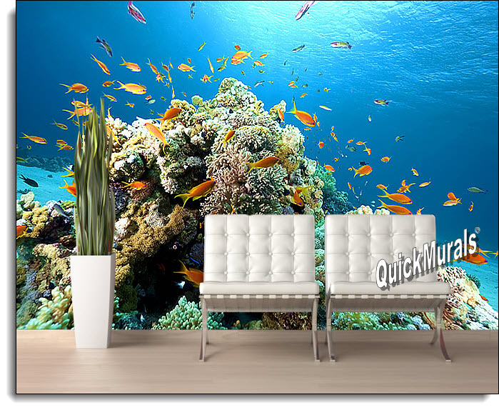 Coral reef wall mural for Coral reef mural