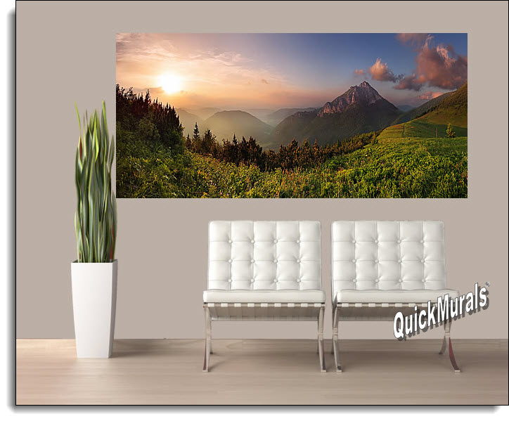 Mountain Sunrise Peel And Stick Wall Mural