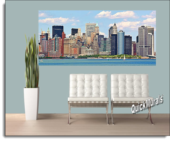 NYC Panoramic Color Peel And Stick Wall Mural