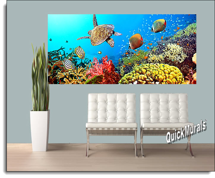 under the sea peel and stick wall mural. Black Bedroom Furniture Sets. Home Design Ideas