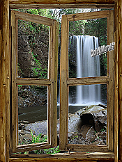 Waterfall Cabin Window Mural #2