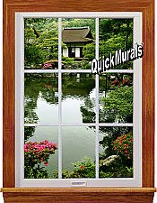 Lakehouse Window 1-Piece Peel & Stick Wall Mural