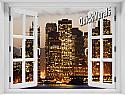 San Francisco Skyline Window mural #2