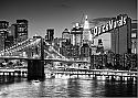 Brooklyn Bridge Black and White Peel and Stick Wall Mural