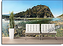 Mountain River Peel and Stick Canvas Wall Mural Roomsetting