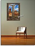Desert Canyon Window Peel & Stick (1 piece) Canvas Wall Mural