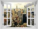The Big Apple Window Mural