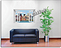 New York City (Color) #1 Window Mural Roomsetting