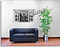 New York City Black and White #2 Window Mural Roomsetting