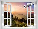 Mountain Sunrise #1 Window Mural