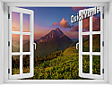 Mountain Sunrise #2 Window Mural