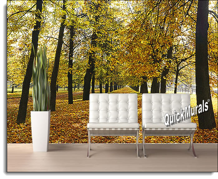 Autumn Park Self Adhesive Peel And Stick Wall Mural