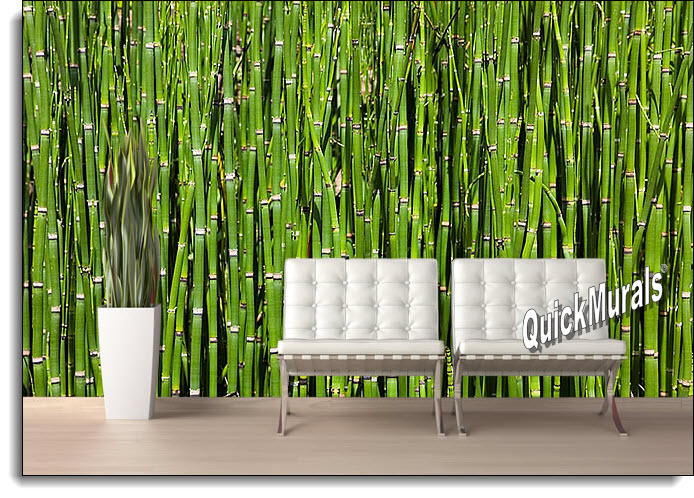 Bamboo backround peel and stick wall mural for Bamboo wall mural wallpaper