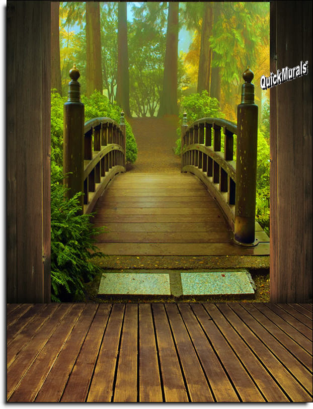 Forest Wall Mural enchanted forest peel & stick wall mural