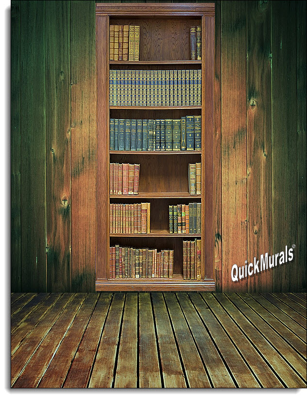 Bookcase One Piece Peel U0026 Stick Wall Mural Part 20