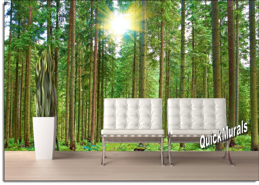 Morning Forest Peel And Stick Wall Mural