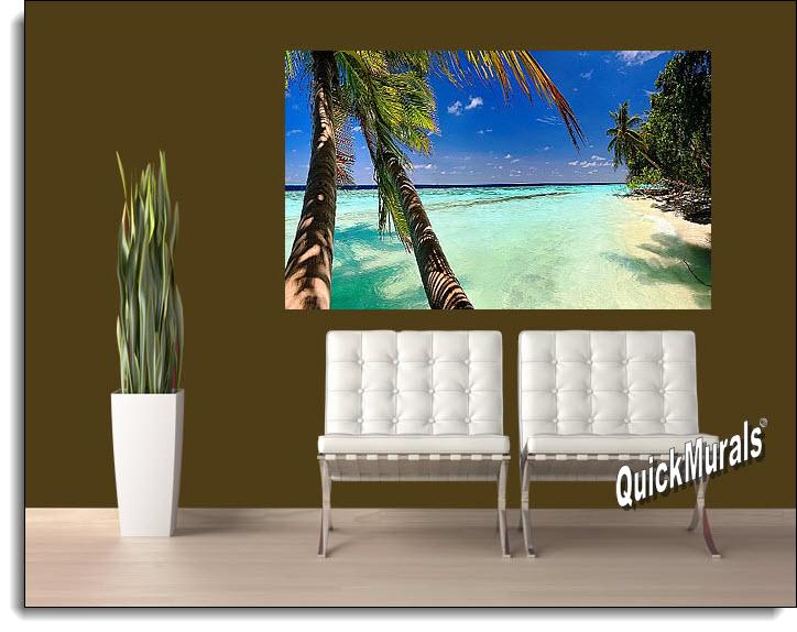 tahiti panoramic peel and stick wall mural. Black Bedroom Furniture Sets. Home Design Ideas