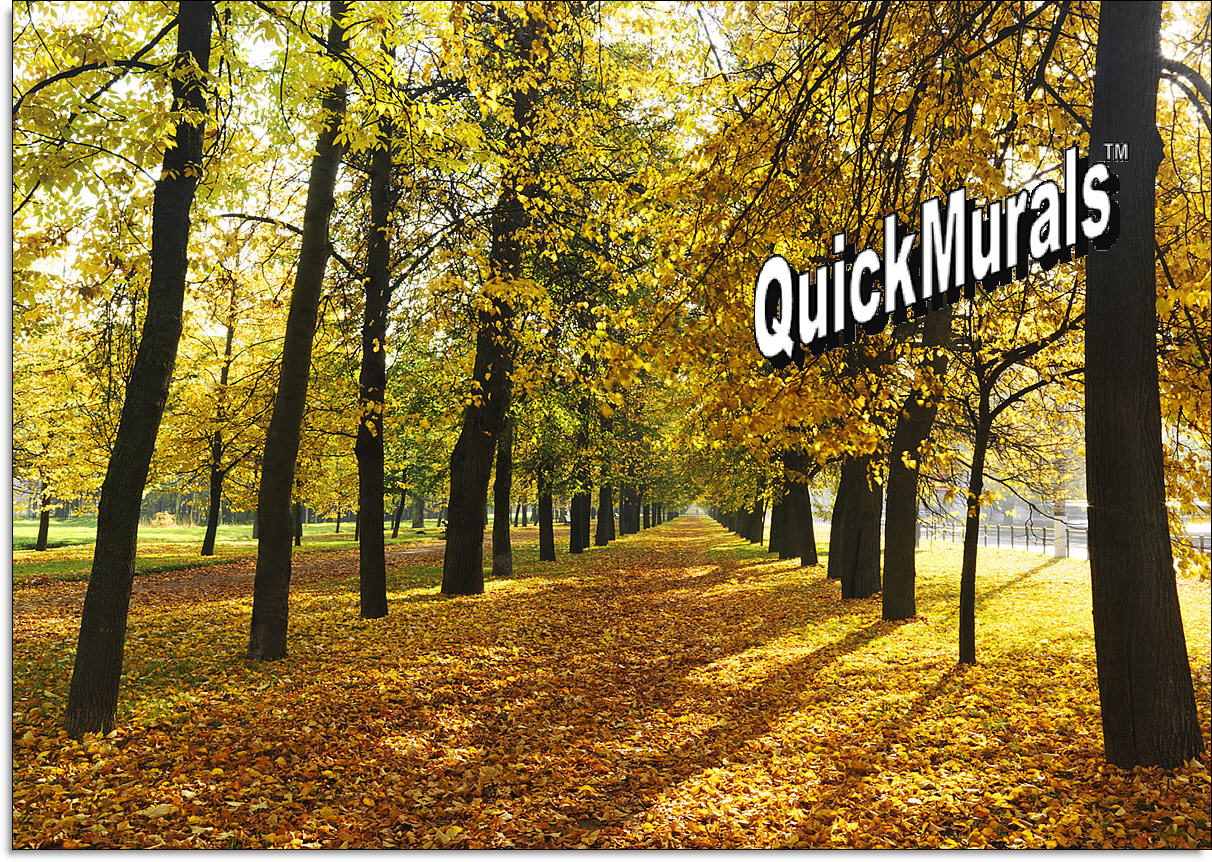 autumn park self adhesive peel and stick wall mural autumn park wall mural