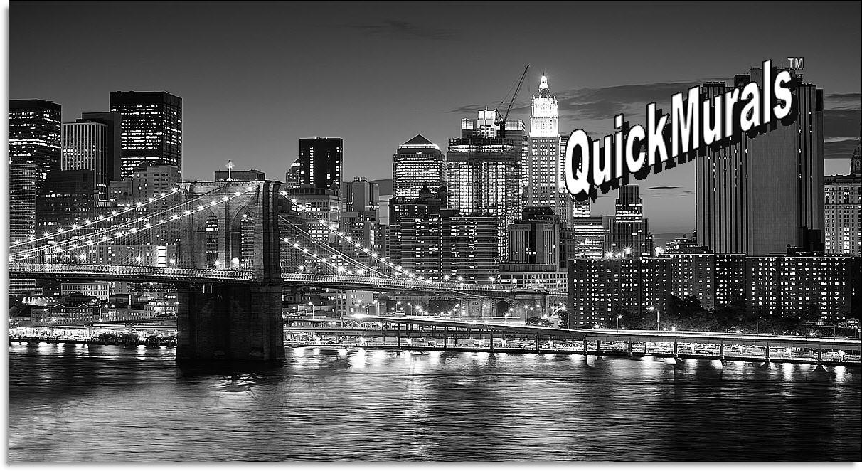 Brooklyn bridge black white peel and stick wall mural for Brooklyn bridge black and white wall mural