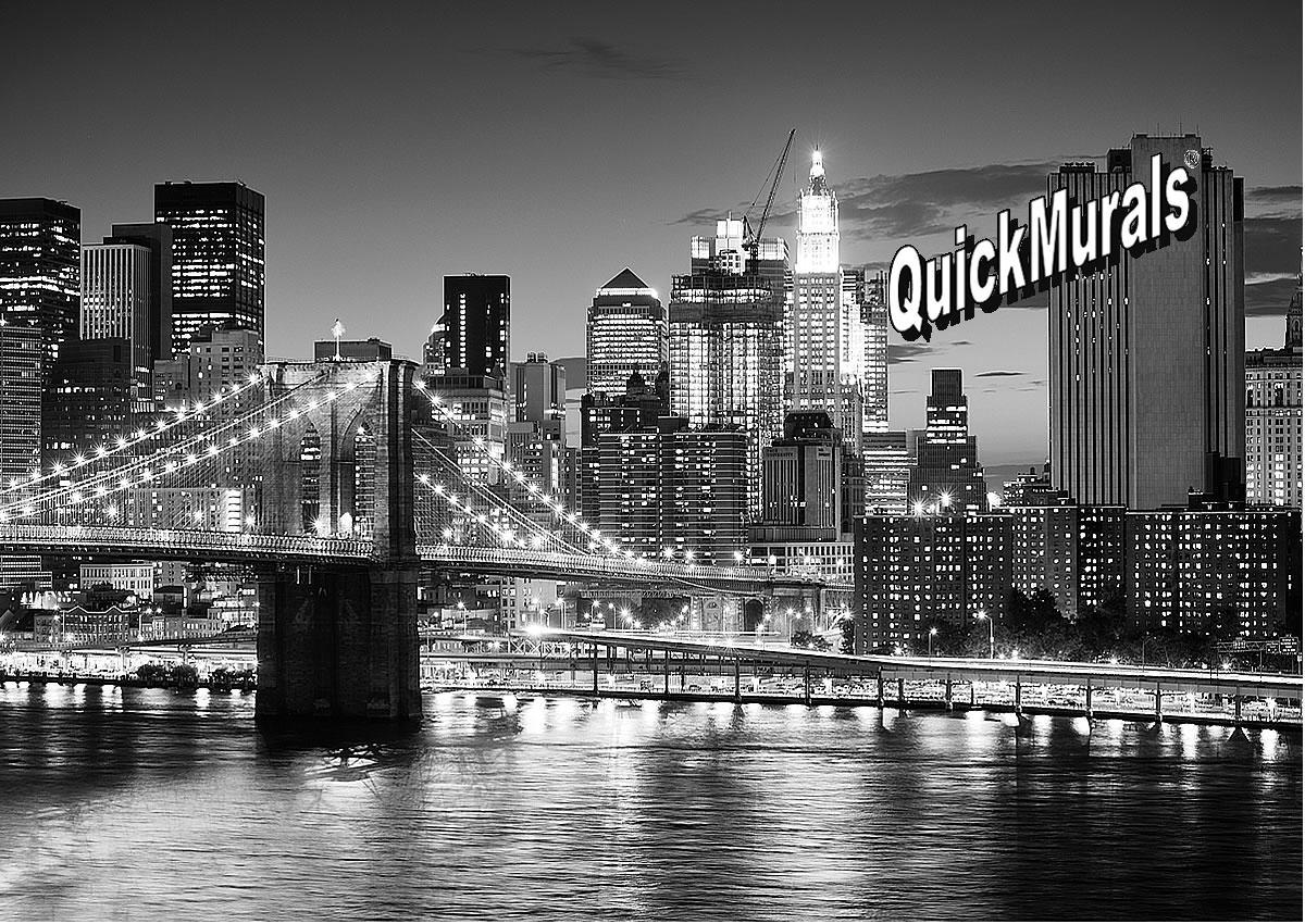 Brooklyn Bridge Black And White Wall Mural