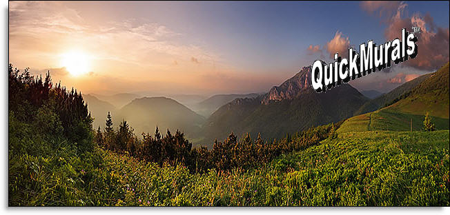 Stick On Wall Murals mountain sunrise peel and stick wall mural