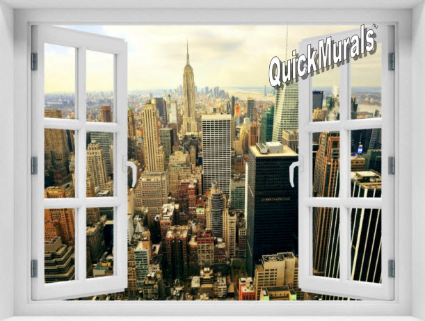 The Big Apple Window 1-Piece Peel & Stick Mural