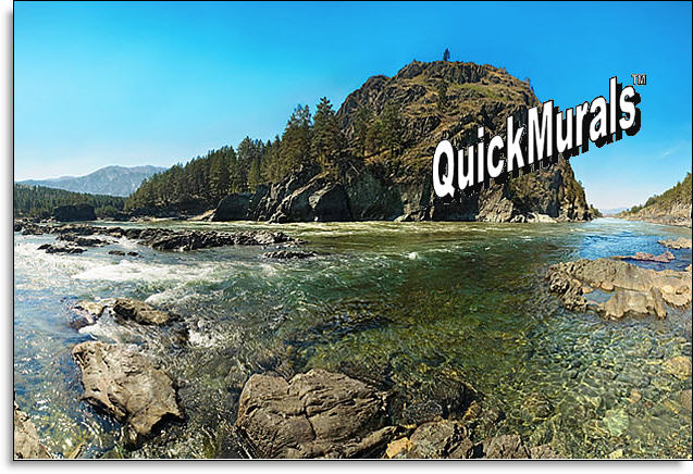 Mountain River Peel and Stick Wall Mural