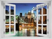 Brooklyn Bridge (Color) Window 1-Piece Peel & Stick Mural