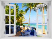 Cafe Window 1-Piece Peel & Stick Mural