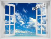 Clouds Window 1-Piece Peel & Stick Mural
