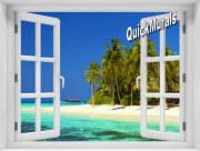 Cook Island Window 1-Piece Peel & Stick Mural