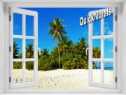 Curaco Island Window 1-Piece Peel & Stick Mural