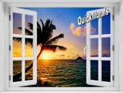 Hawaiian Sunset Window 1-Piece Peel & Stick Mural
