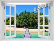 Maldive Island Window 1-Piece Peel & Stick Mural