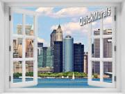 New York City (Color) #2 Window 1-Piece Peel & Stick Mural