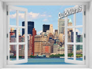 New York City (Color) #1 Window 1-Piece Peel & Stick Mural