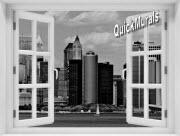 New York City Black and White #2 Window 1-Piece Peel & Stick Mural