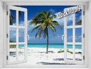 Palm Tree Window 1-Piece Peel & Stick Mural