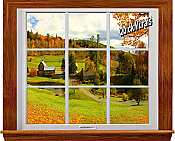 Country Window 1-Piece Canvas Peel & Stick Wall Mural