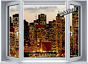Metropolis Window 1-Piece Peel & Stick Wall Mural