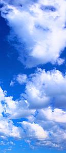 Blue Skies 1 Piece Peel & Stick Wall/Door Mural