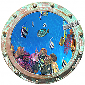 Undersea Porthole #2 Wall Mural