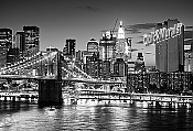 Brooklyn Bridge Black and White Wall Mural
