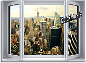 Big City Window 1-Piece Peel & Stick Wall Mural