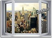 Big City Window 1-Piece Peel & Stick Wall Mural
