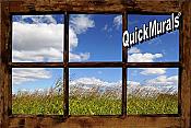 Country Meadow Window Peel & Stick (1 piece) Wall Mural