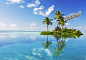 Paradise Island Peel and Stick Wall Mural