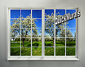 Orchard Window Peel and Stick 1-piece Wall Mural
