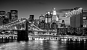 Brooklyn Bridge Black & White Peel And Stick Wall Mural