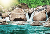 The First Waterfall Peel and Stick Wall Mural